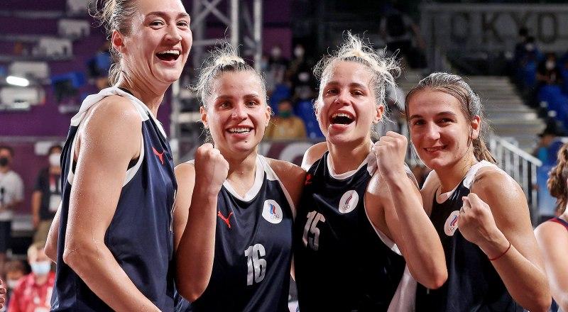 Женская сборная России по баскетболу 3x3. Фото Станислава КРАСИЛЬНИКОВА/ТАСС.