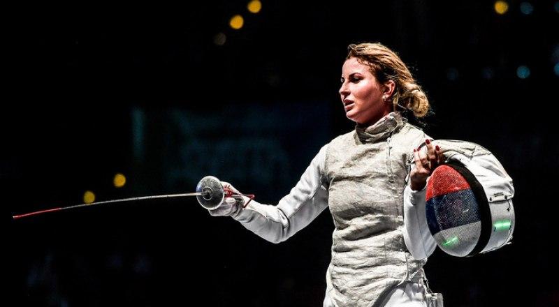 Олимпийская чемпионка Рио-де-Жанейро-2016 рапиристка Инна Дериглазова.