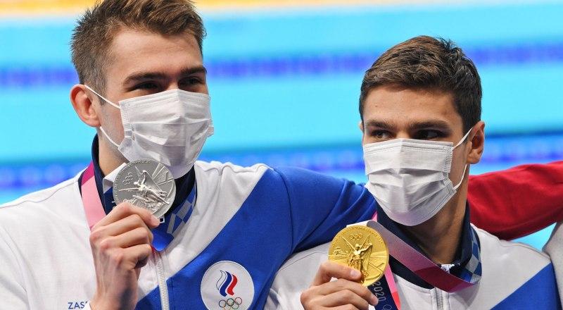 Пловцы Рылов и Колесников выиграли «золото» и «серебро» на Играх в Токио. Фото Григория СЫСОЕВА (РИА новости).