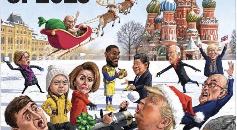 Обложка новогоднего выпуска журнала THE WEEK. Без комментариев.