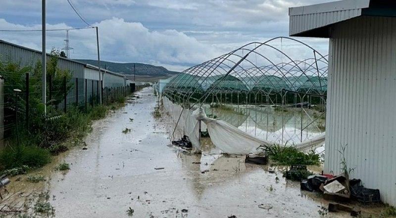Конструкции теплиц едва устояли во время наводнения в Бахчисарайском районе.