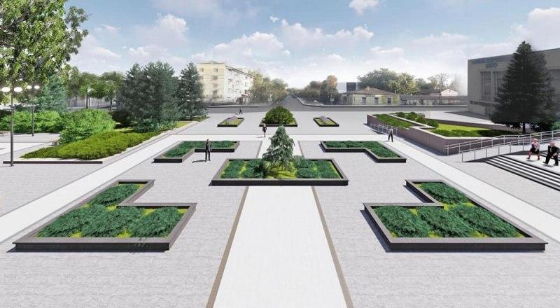 Так будет выглядеть площадь перед Симферопольской администрацией после ремонта.
