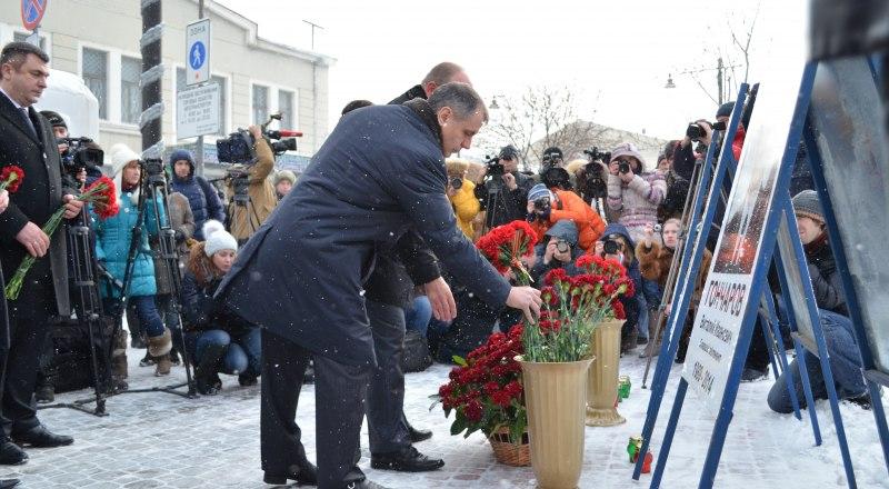 Крым помнит своих героев. Акция памяти 18 февраля 2015 года.