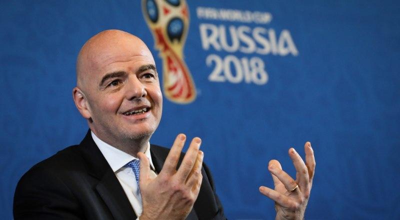 Президент ФИФА Джанни Инфантино: «Опять американцы ищут чёрную кошку в тёмной комнате!».