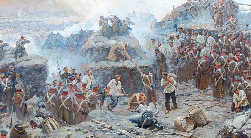 Фрагмент панорамы «Оборона Севастополя 1854-1855 годов».