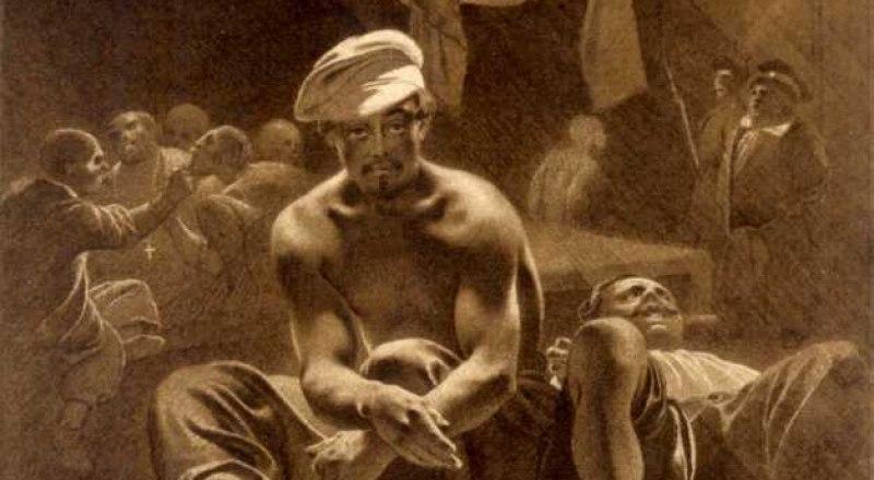 Т. Г. Шевченко. В тюрьме. Бумага, тушь, бистр (XI 1856 - 10.V 1857).