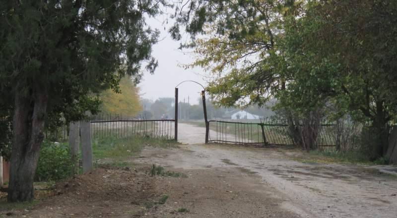 Самодельный забор в Чапаево. Так местные жители сделали главную улицу пешеходной.