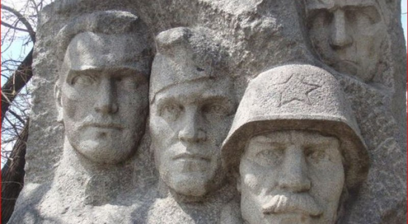 Братская могила Николая Данилова, Григория (Михаила) Сербинова, Ивана Малкова и Алексея Зубенко.