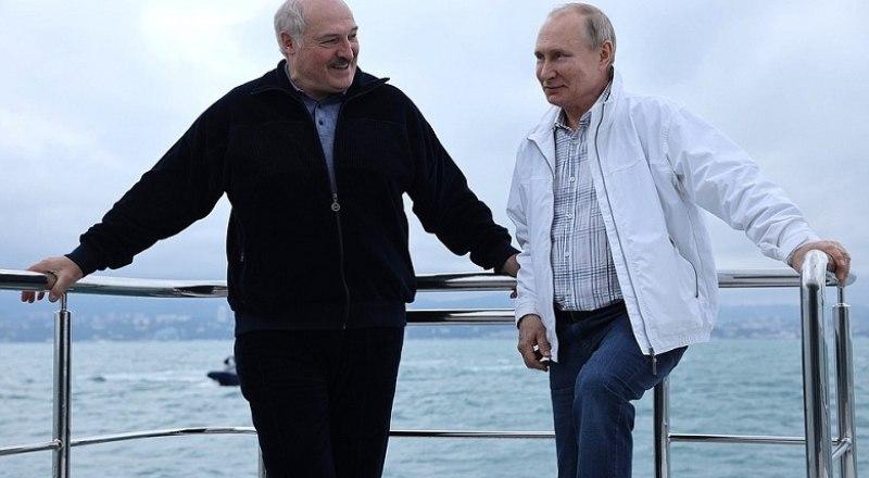 Во время встречи двух президентов.