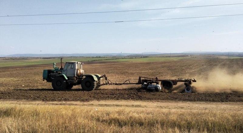 Заделывать зёрна приходится в сухой грунт - иначе аграрии не успеют закончить сев в положенный срок. Фото НИИСХ Крыма.
