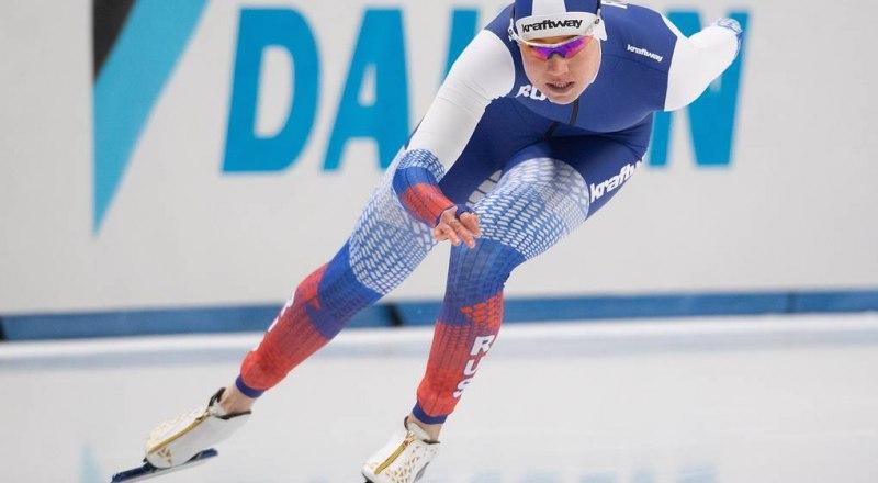 На дистанции 500 м претендентка на «Хрустальный глобус» 2019/20 года среди спринтеров москвичка Ольга Фаткулина.