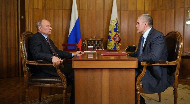 Встреча президента Российской Федерации Владимира Путина с главой Республики Крым Сергеем Аксёновым.