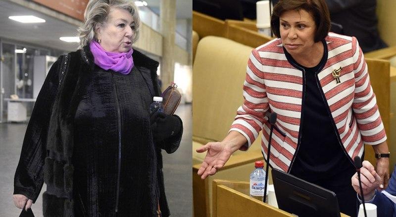 «От любви до ненависти - один шаг!». На снимке Татьяна Тарасова (слева) и Ирина Роднина (справа).