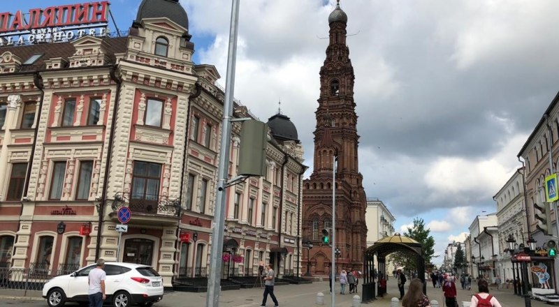 Казань. Центр. Улица им. Баумана.