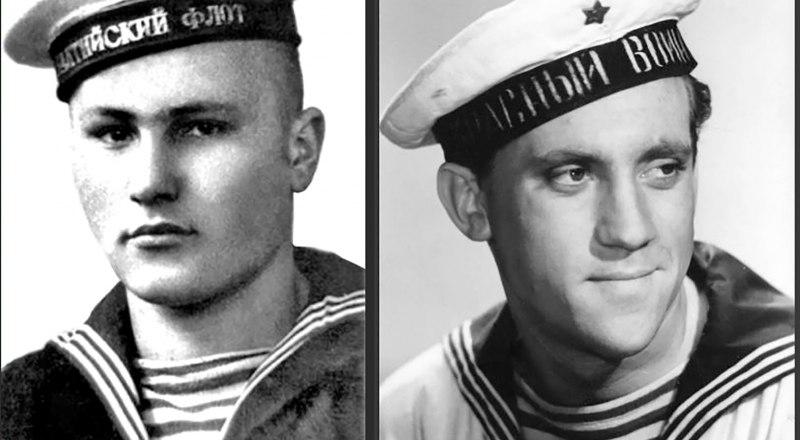 Василий Шукшин (слева) служил на Черноморском флоте, Владимир Высоцкий - в Севастополе только снимался в кино.
