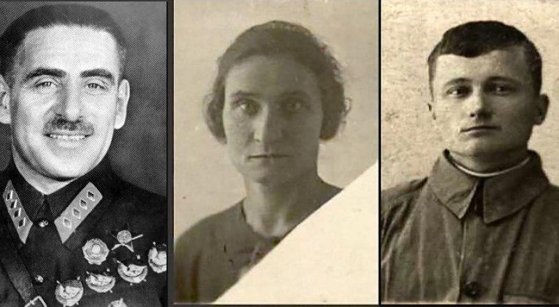Василий Блюхер, Юлия Жёлтая и Аркадий Буряк (слева направо).