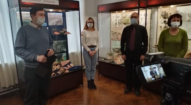 На открытии уникальной экспозиции.Фото Ольги Решетниковой.