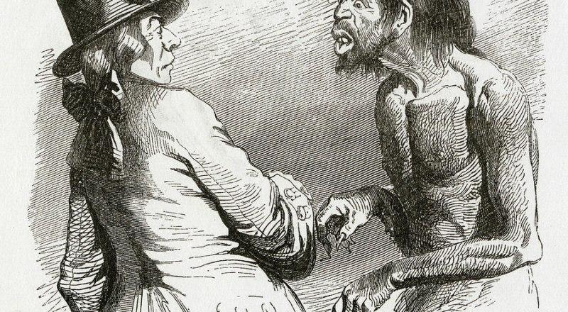 Жан Гранвиль. Гулливер встречает йеху.
