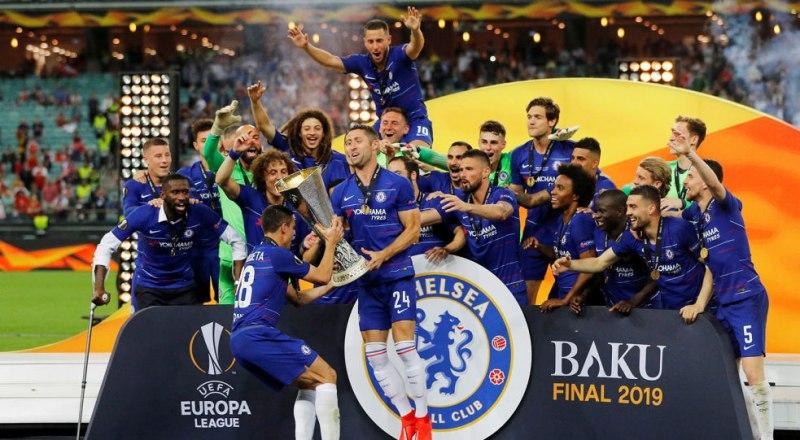 Ныне Кубок Лиги Европы УЕФА 2018/19 года будет зимовать у футболистов лондонского «Челси».