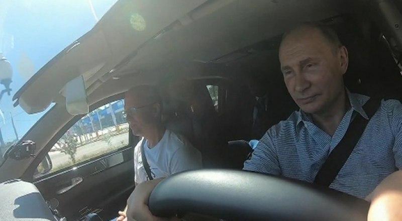 Владимир Путин проверил трассу - вопросов нет, только восхищение. Фото с сайта crimea.ria.ru