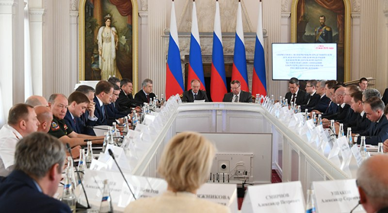 На выездном заседании Совета Безопасности РФ. Фото Александра КАДНИКОВА.