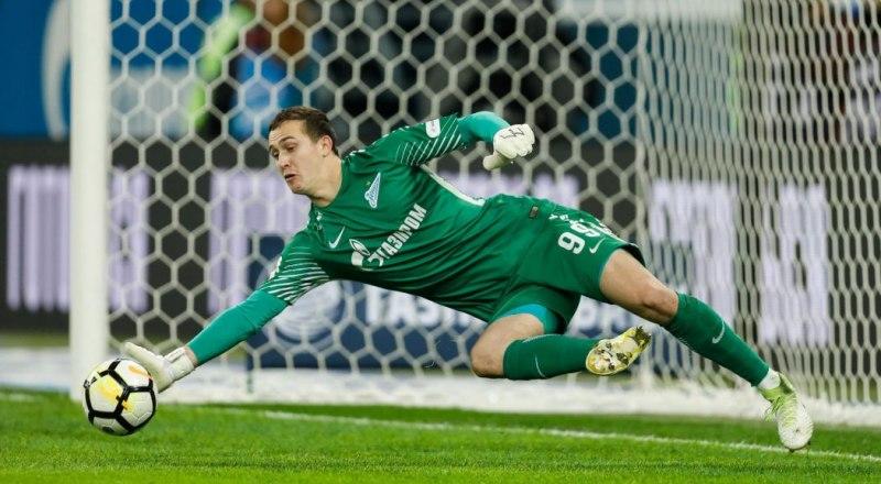 В игре - вратарь «Зенита» Андрей Лунёв, вошедший в символическую сборную второго тура европейских клубных турниров.