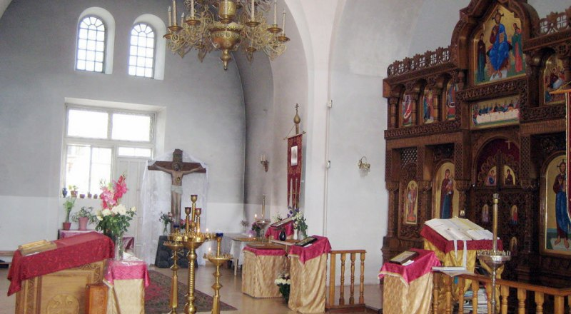 В ялтинском храме Феодора Тирона.