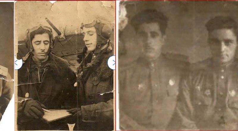 Аршавир Аракелович Миносян. На других фото он слева с боевыми товарищами (возможно, в шлемофоне рядом - воздушный стрелок).