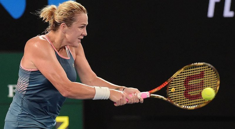 Играет лучшая российская теннисистка на Australian Open-2019 Анастасия Павлюченкова.