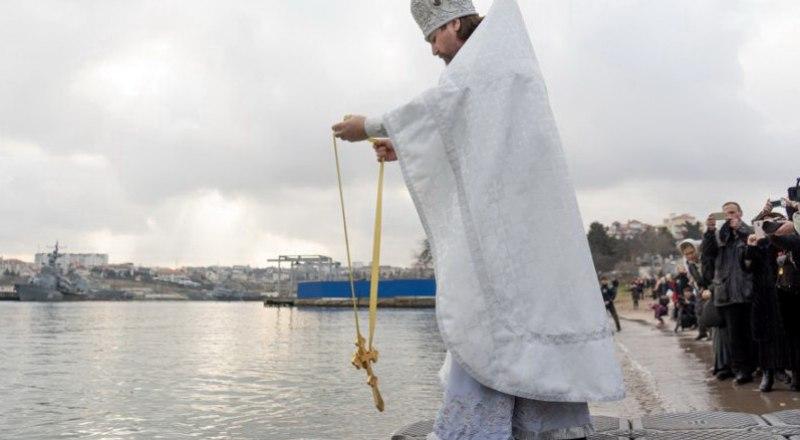 Освящение вод Чёрного моря в Херсонесе.